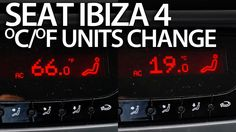 How to change #temperature units #Seat #Ibiza MK4 #Climatronic (Celsius Fahrenheit) #cars