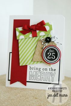 Reverse Confetti | November Release | Bring On The Merry, Tinsel 'n Trim | Holidays, Christmas Cards | by Jen del Muro