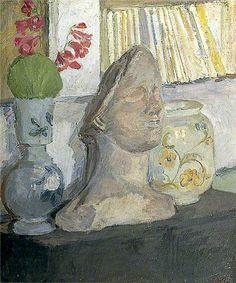 """Vanessa Bell """"Still Life with Plaster Head"""""""