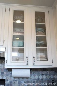 how to add glass to kitchen cabinet doors how to add glass to cabinet doors confessions of a 9686