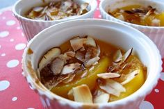 Peach Brulee - good option for a dessert that is simple and basically just fruit, with enough sugar to make it more fun.