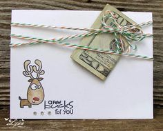 cute was to give money for christmas Paper Smooches stamp