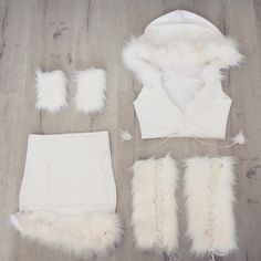 costume, girl, and Halloween image Eskimo Halloween Costume, Handmade Halloween Costumes, Bunny Costume, Halloween Outfits, White Costumes, Girl Costumes, Costume Ideas, Halloween Kleidung, Fantasias Halloween