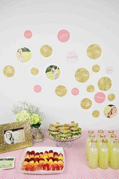 Glam Graduation Party Ideas - using Pear Tree Greetings graduation party decorations as wall decor #graduation #party