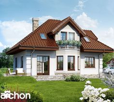 Aranżacje wnętrz - Domy: Dom w rukoli (G2) - ARCHON+ Biuro Projektów. Przeglądaj, dodawaj i zapisuj najlepsze zdjęcia, pomysły i inspiracje designerskie. W bazie mamy już prawie milion fotografii!