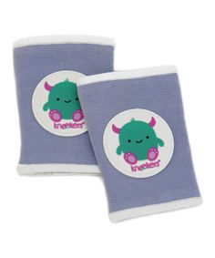 Baby crawling knee pads! Keep those clothes clean from crawling patches!   Look at this #zulilyfind! Periwinkle Little Monster Kneekers #zulilyfinds