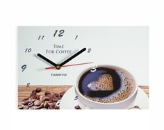 Nástenné hodiny do kaviarne Coffee Time, Ale, Clock, Tableware, Home Decor, Watch, Dinnerware, Decoration Home, Room Decor
