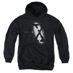X Files - Spotlight Logo Youth Pull-Over Hoodie