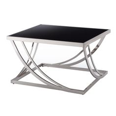Anson Steel Arch Curved Sculptural Modern Coffee Table by iNSPIRE Q Bold (Anson Arch eyebrows Pillar Coffee Table), Black Stylish Coffee Table, Cool Coffee Tables, Modern Coffee Tables, Bureau Design, Stainless Steel Coffee Table, Steel Table, Tempered Glass Table Top, Sofa End Tables, Art Tables