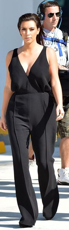 Who made  Kim Kardashian's black jumpsuit that she wore in Miami?