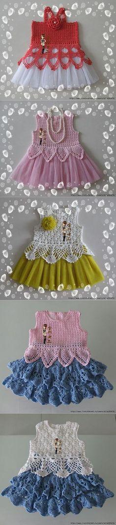 Для маленьких леди. | Вязание |  Diy