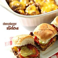 Cheeseburger Sliders on SixSistersStuff