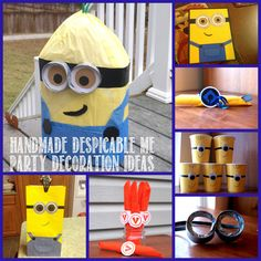 Homemade Despicable Me #Minion Birthday Party Decoration Ideas. #DIY Party ideas including tutorials.