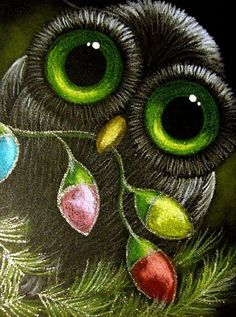 Lime green owls eyes