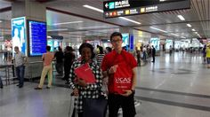 Beautiful Girl in Beautiful City  Editor's note: Idugboe Osayuki Rebecca was admitted by Fujian Medical University. She was picked up by SICAS Student Care Team Member Henry at the Airport.