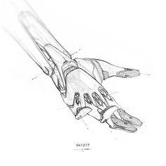 041017 | A.I. HAND v2.0 - Final design sketch. #dailysketchchallenge #cardesign #carsketch #characterdesign #3dsketching #blender #sketchbook #future #conceptart #conceptcharacter #dailysketch #spacex  #scifi #lifeonmars