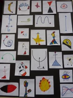 Discover recipes, home ideas, style inspiration and other ideas to try. Kandinsky, Joan Miro Paintings, 2nd Grade Art, Ecole Art, Mondrian, Classroom Crafts, Kindergarten Art, Arts Ed, Art Programs