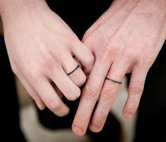 simple tattoo wedding rings - Google Search