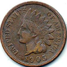 1905 Indian Head Penny Good Liberty Free S (ih95)