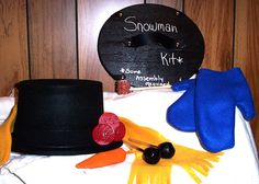 Snowman Kit...Some Assembly Required by cattoy4 on Etsy, $20.00