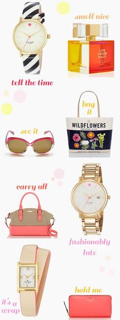 Kate Spade stuff is just so cute. Here is my current wish list and yes, it's obvious I have a thing for watches but when they look this cute, how can you not have a total addiction? What Kate stuff are you wanting for summertime? Have you smelled the new Live Colorfully perfume yet? I [...]