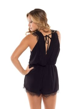 Coveted Clothing > Rompers > #3457-BLACK − LAShowroom.com