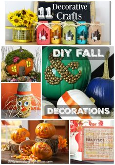 11 Decorative Crafts for Fall that you will enjoy making and displaying!