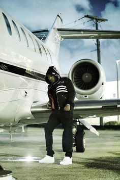 Future (Rapper) wearing Homme Femme Classic Bomber, Nike Air Force 1, Bape Shark Full Zip Hoodie