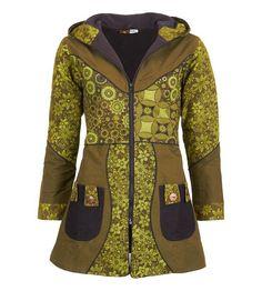 f70b7976fbaa Weiteres - Mantel mit Blumenmuster Size Größe 42, Farbe Army - ein  Designerstück…