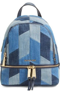 Michael Kors 'Small Rhea Zip' Denim Backpack available at Nordstrom. MICHAEL Michael Kors Rhea Signature Extra Small Backpack * Find out more about the great product at the image link. 12 Handmade Bags You'll Fall in Love With Jill's Fashion Base is und Denim Backpack, Small Backpack, Denim Bag, Backpack Bags, Fashion Backpack, Travel Backpack, Diaper Backpack, Rucksack Bag, Tote Purse
