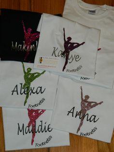 Dance or Ballerina  Shirt  Monogrammed by PolkaDottedSunflower, $17.95