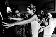 Natalie multi-tasking before marrying Chris at this Kensington Palace wedding -