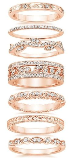 Rose Gold Wedding Bands ❤︎                                                                                                                                                     More
