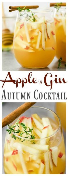 Apple & Gin Autumn Cocktail [with recipe video]