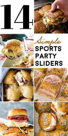 If you're looking for a one-pan way to please the crowd at your next sports party, this list of simple slider recipes is a total win! GET THE RECIPES:. Slider Sandwiches, Party Sandwiches, Sliders Party, Steak Sandwiches, Tailgate Sandwiches, Cold Sandwiches, Breakfast Sandwiches, Tapas, Appetizers For Party