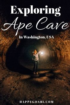 Want to experience exploring a lava tube in the United States? Ape Cave is a stunningly beautiful cave in Washington state that is open to the public to explore.  This guide will help you know what to expect and what to bring before your very own cave excursion! | #apecave #washington #usa #travel #cave #hiking #lava #lavatubes #cool #mountsthelens #exploring