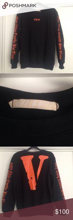 Off-White X Vlone Crewneck Size (S) Worn Once                                                Supreme, Gucci, Louis Vuitton, bape, kith, Nike, adidas, yeezy, VLONE Sweaters Crewneck