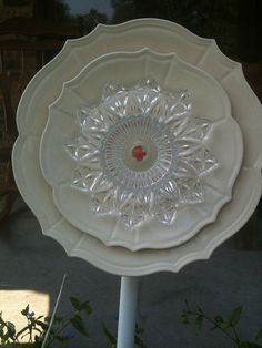 Recycled Glass Garden Flower by germanpenney on Etsy, $29.00