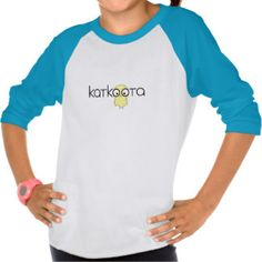 Katkoota: An Arabic word of endearment for a cute girl - a little female baby chick. (Middle Eastern Arab Designs - Children's Clothing - Kids Ringer Tshirt)
