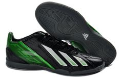 78550f0c4e034 Adidas F50 Indoor IC Football Boots Black Green White  64.99