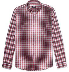 A.P.C. - Button-Down Collar Checked Cotton Shirt | MR PORTER