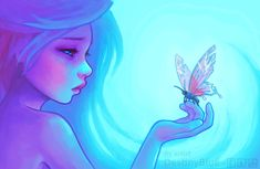 Damages - sadness, alone, lonely, butterfly, kawaii, glow, pastel, beautiful, fantasy