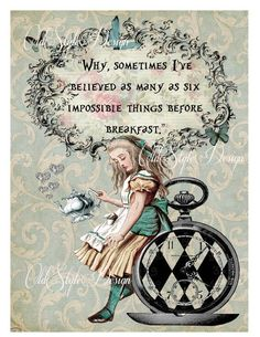 ALICE in Wonderland Decor Shabby Chic Decor. by OldStyleDesign