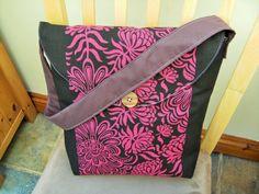 Fabric Bag Retro Panel Print stiff Furnishing by dorotheasdesign