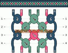 Normal Friendship Bracelet Pattern #4060 - BraceletBook.com