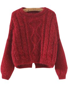Shop Red Long Sleeve Split Crop Cable Knit Sweater online. Sheinside offers Red Long Sleeve Split Crop Cable Knit Sweater & more to fit your fashionable needs. Free Shipping Worldwide!