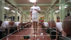 Kubrick's use of one-point perspective