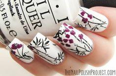 Zen Nails #nailart #opi #whitenails #flowers - See more nailart at bellashoot.com