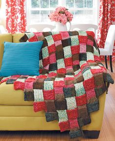 """Ravelry: Entrelac Afghan pattern by Marlaina """"Marly"""" Bird"""