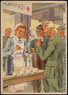 Image 1 of Germany WWII Re Cross Frauen Schaffen fuer Euch Postcard